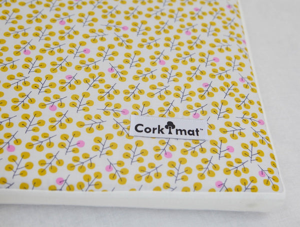 CorkiMat™ Individual Tile - Berries | Gold