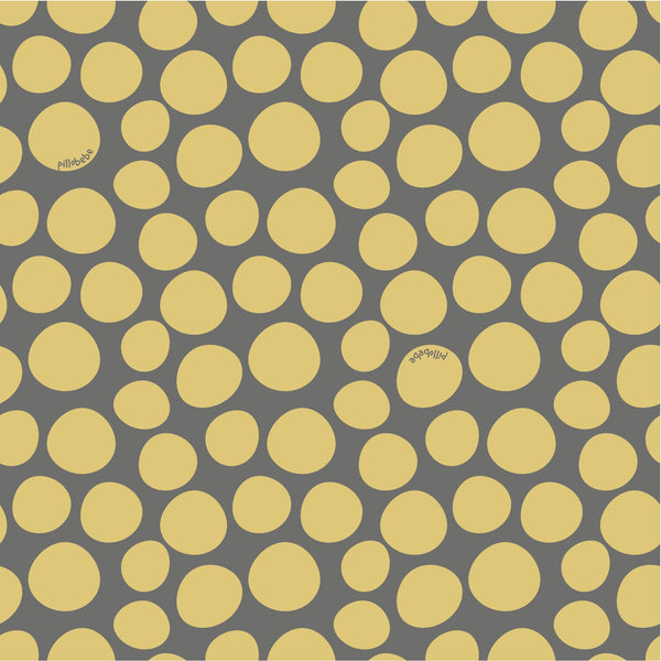 GOTS Certified Organic Cotton Fabric - Pebbles Yellow