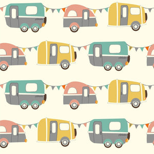 GOTS Certified Organic Cotton Fabric - Campers