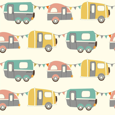 GOTS Certified Organic Cotton Fabric - Cars