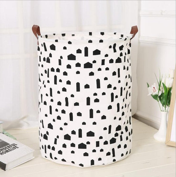 Cotton Canvas Toys Utility Storage - My town