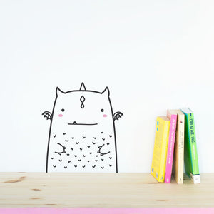 Modern Nursery Wall Decal - Little Monster