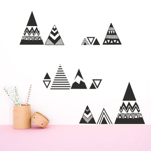 Modern Nursery Wall Decal - Nordic Mountains