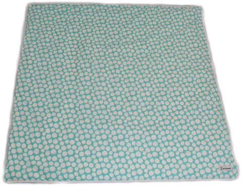 SALE Organic Cotton Play Mat Cover - Mint Pebbles
