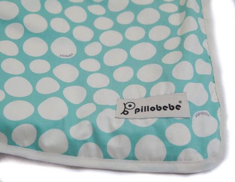 Organic Cotton Play Mat - Pebbles Mint