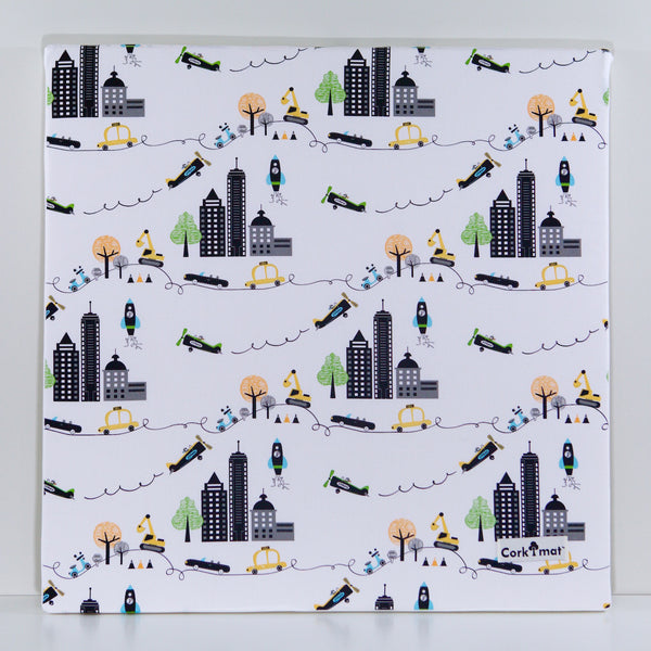 CorkiMat™ Plus - NYC & Black Pebbles [6 tile set]