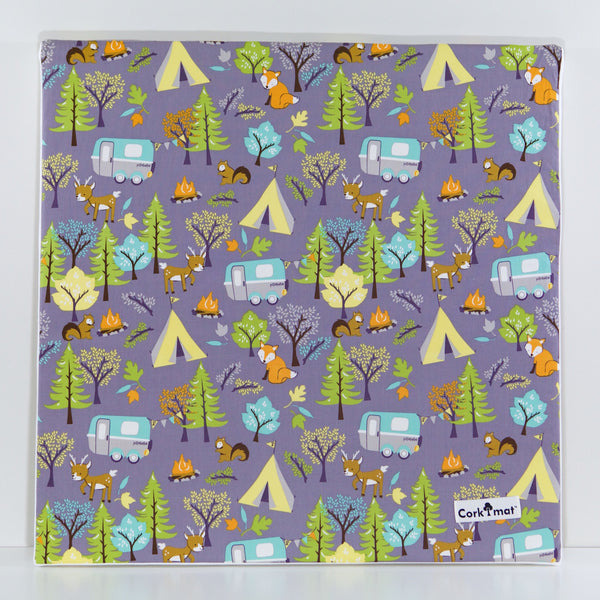 CorkiMat™ Plus - Forest Friends & Yellow Pebbles [6 tile set]