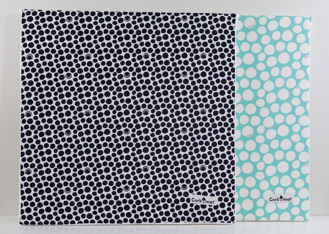 CorkiMat® - Black & Mint Pebbles