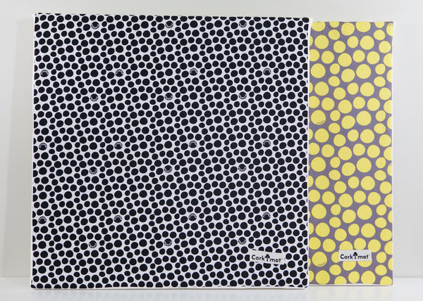 CorkiMat™ Plus - Black & Yellow Pebbles [6 tile set]