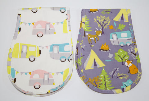 Premium Organic Cotton Burp Cloth - Camping