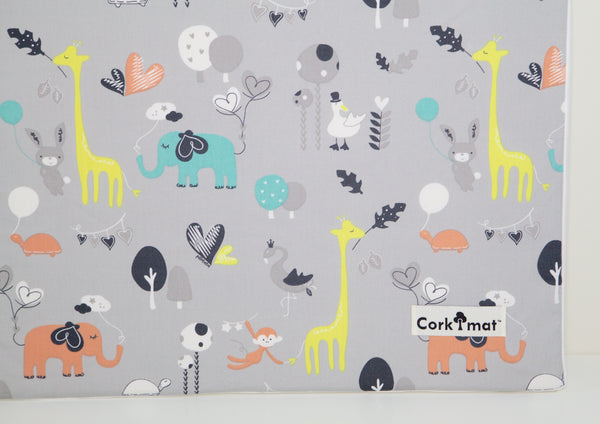CorkiMat® - Safari Dream/Black Pebbles