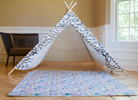 [CLEARANCE] Organic Cotton Play Mat - Safari Dream