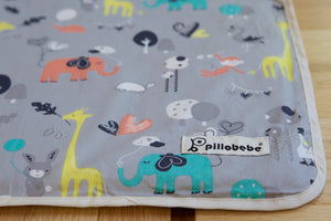 [CLEARANCE] Organic Cotton Play Mat Cover - Safari Dream