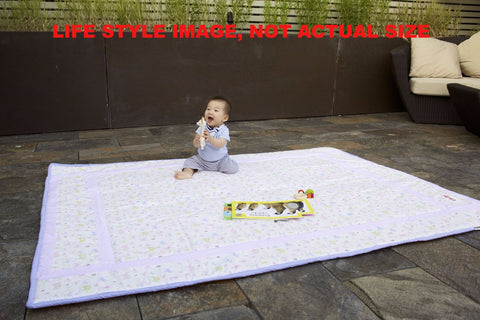 Organic Cotton Play Mat - Natural White