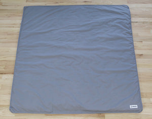 Organic Cotton Play Mat - Solid Gray