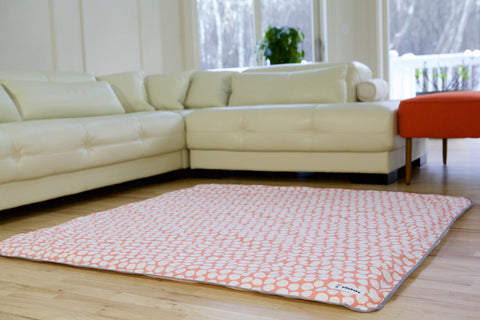 [CLEARANCE] Organic Cotton Play Mat Cover - Pink Pebbles