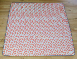 Organic Cotton Play Mat - Pink Pebbles