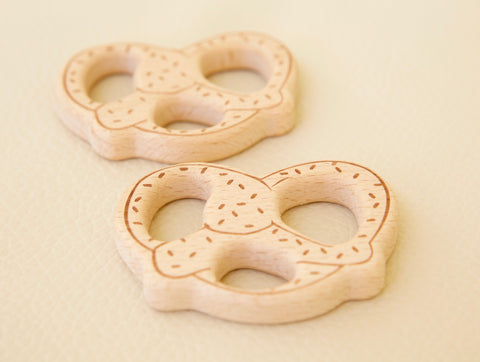 Wooden Toy & Teether - Pretzel