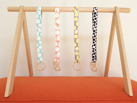 Wooden Toy & Teether - Organic Cotton Leash