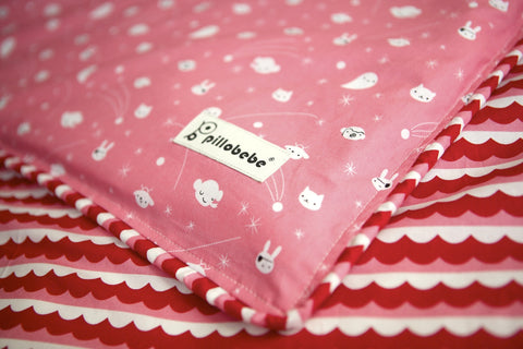Organic Cotton Play Mat - Pink Sea