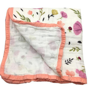 Organic Cotton 4 layer Muslin Quilt - Blossoms