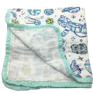 Organic Cotton 4 layer Muslin Quilt - Cosmic