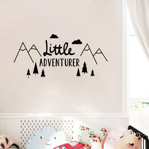 Modern Nursery Wall Decal - Little Adventurer