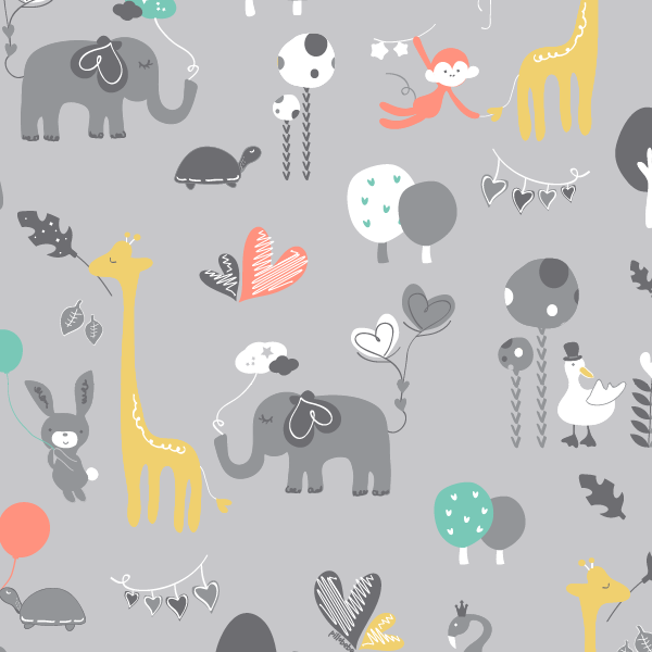 Organic Cotton Play Mat - Safari Dream