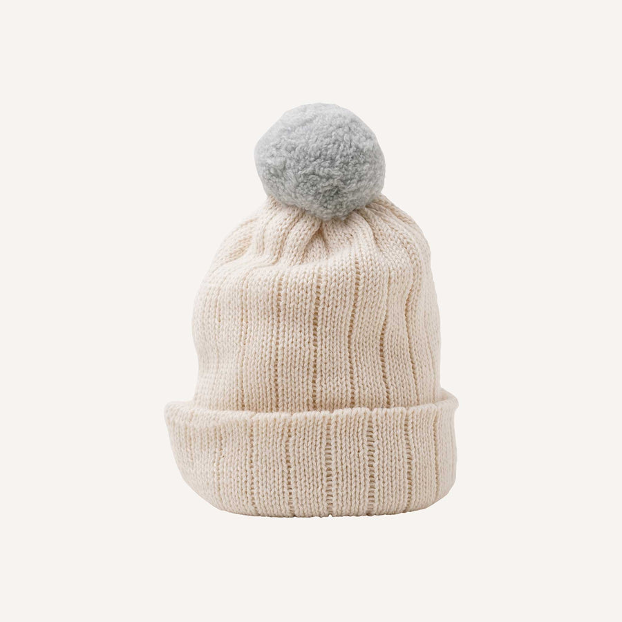 Light Blue Pom Pom Hat