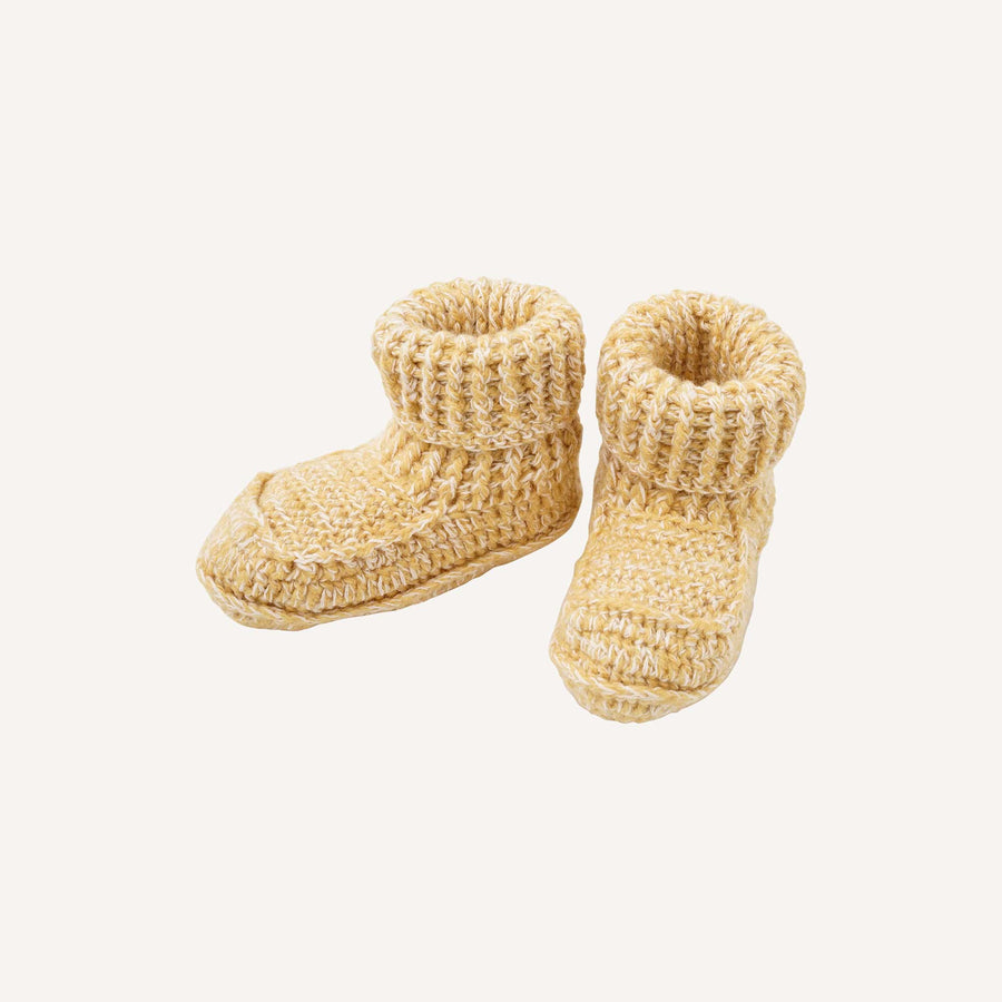 Marl Gold Booties