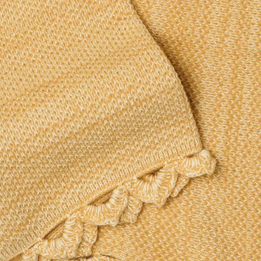 Vintage Gold Baby Shawl