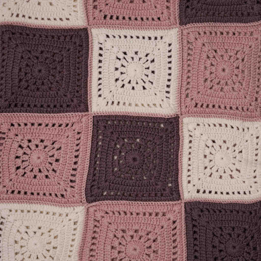 Pink Patchwork Baby Shawl