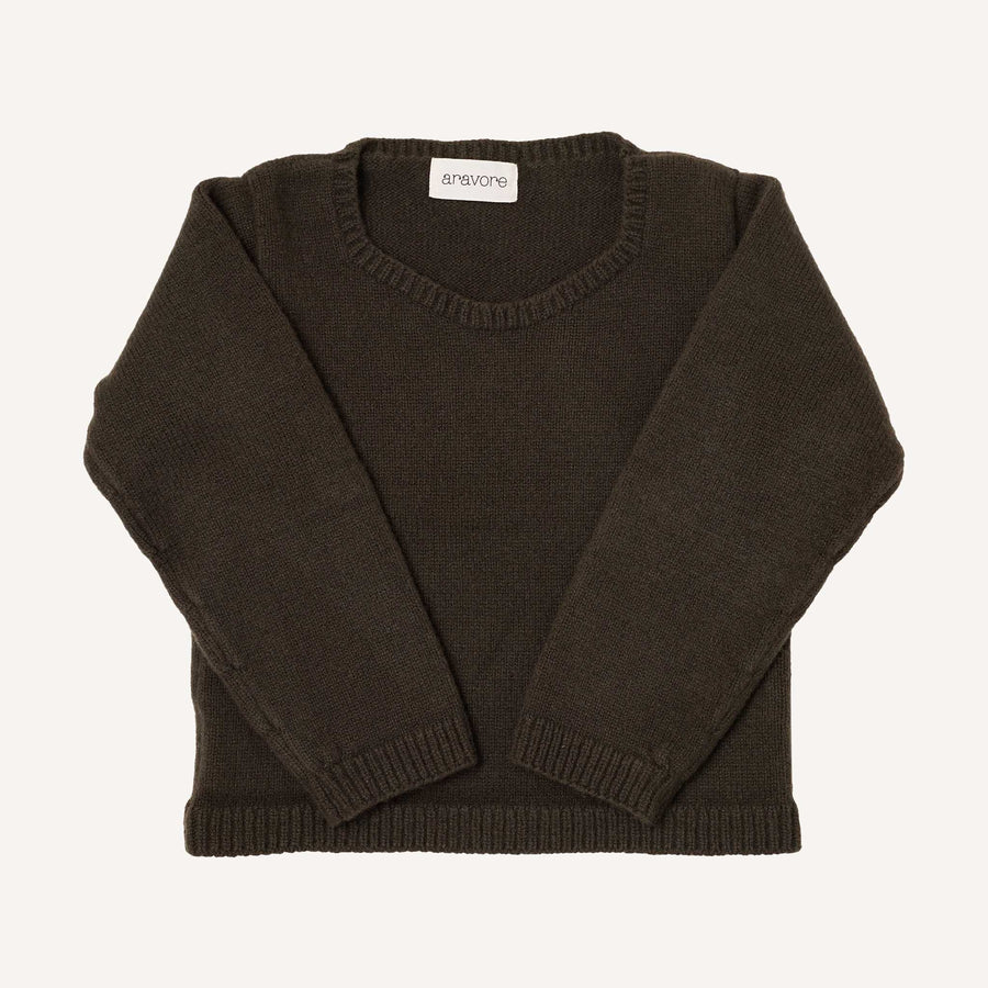 Dark Green Crew Neck Jumper