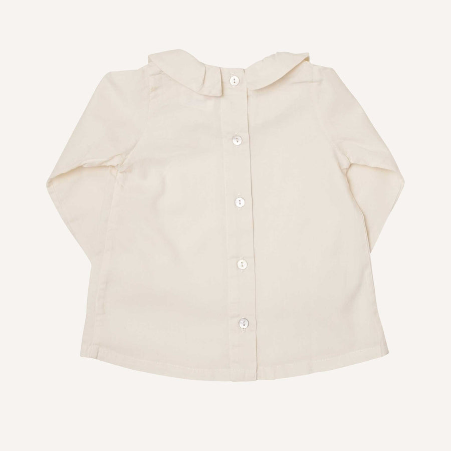 Cream Long Sleeve Ruffle