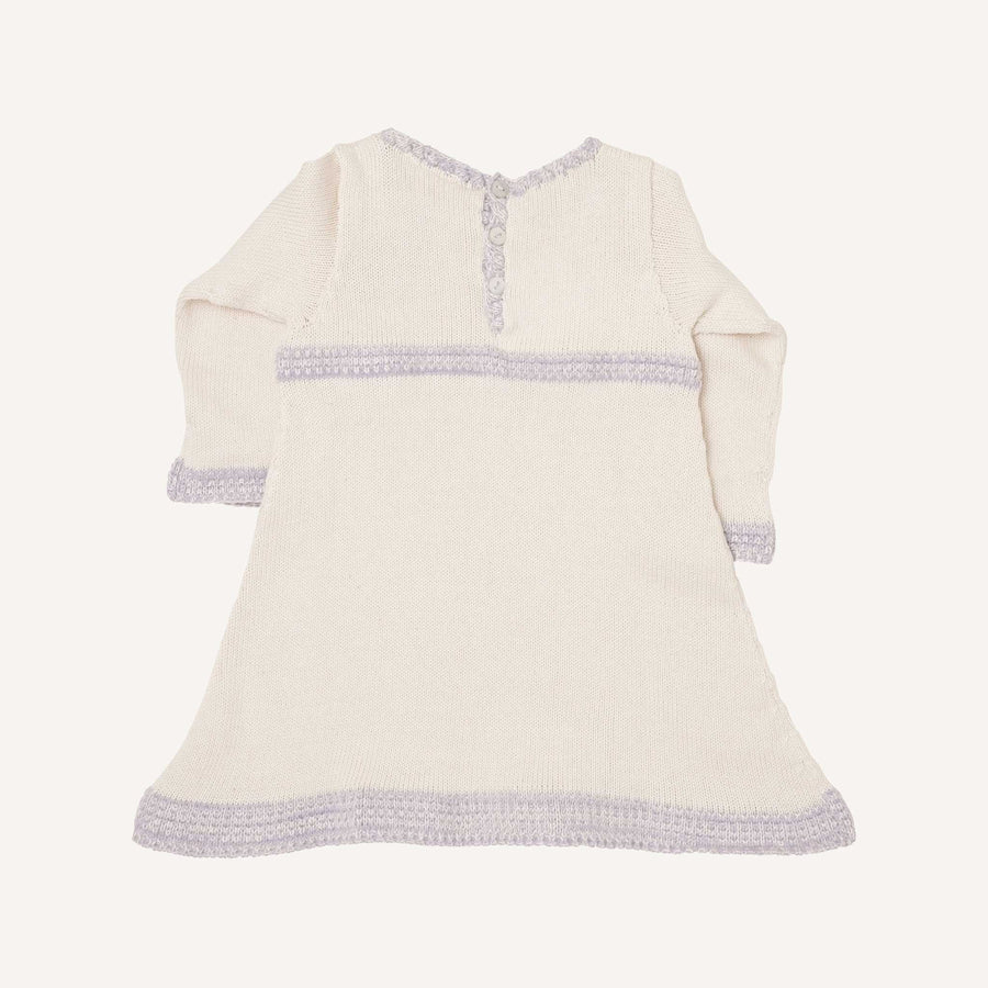Cream and Marl Lavender Vintage Dress
