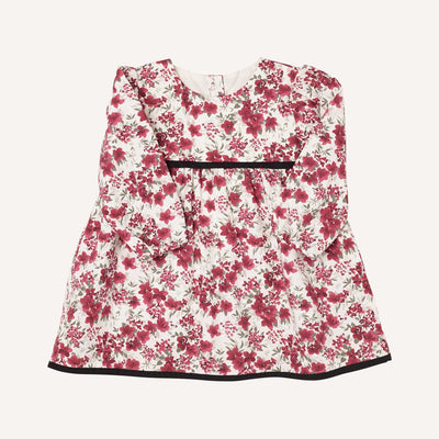 Bordeaux Floral Print Dress