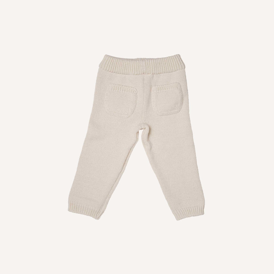 Cream Knitted Trousers
