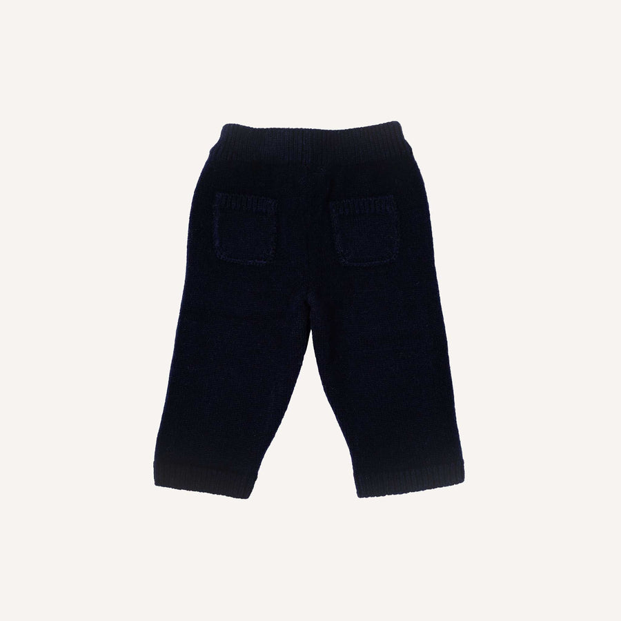 Navy Knitted Trousers