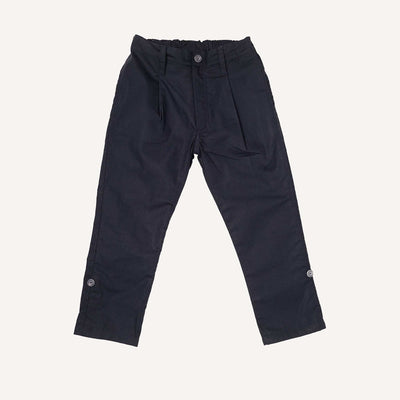 Navy Roll Up Trousers