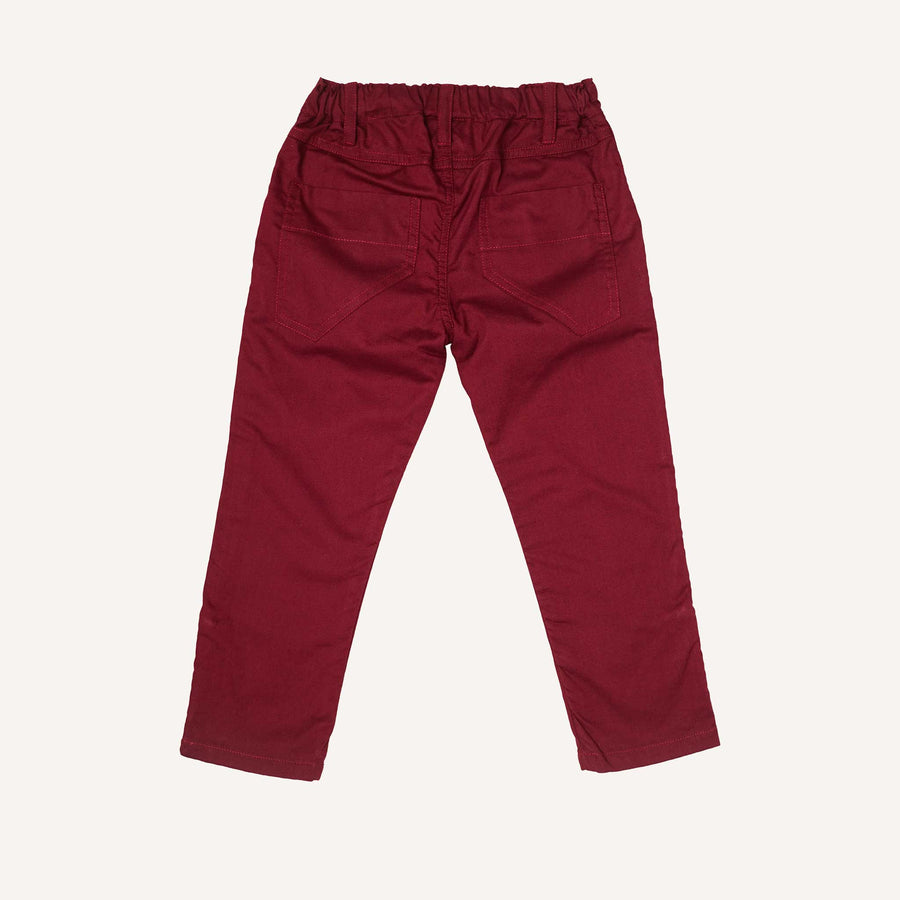 Bordeaux Roll Up Trousers