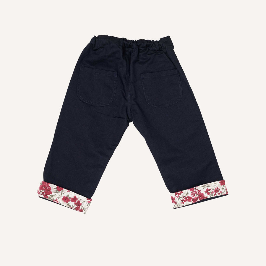 Navy and Bordeaux Baby Trousers