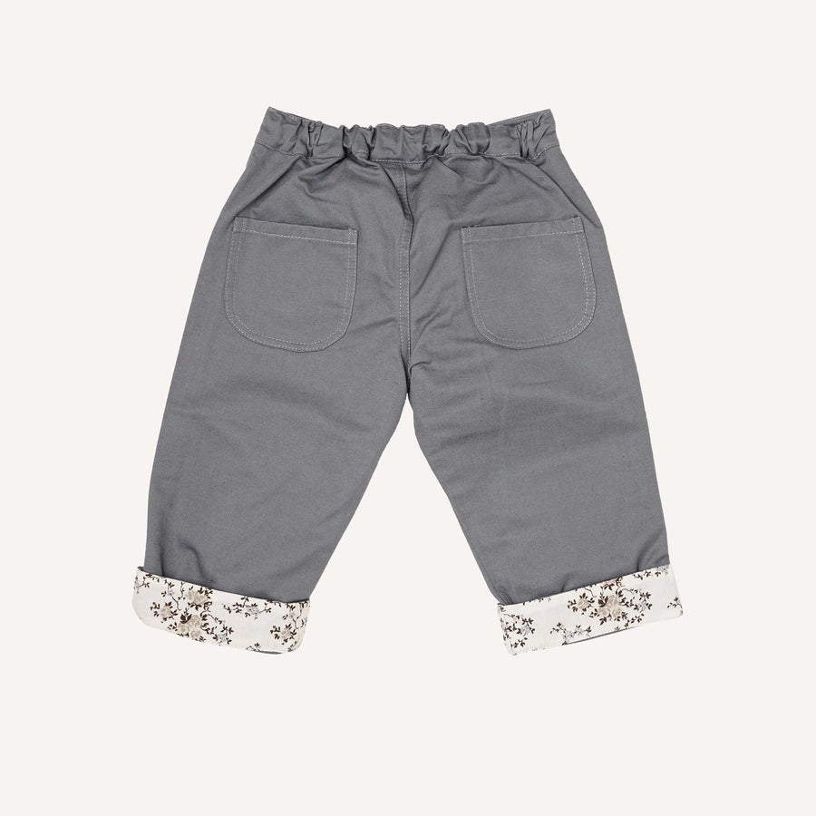 Silver and Ditsy Print Baby Trousers