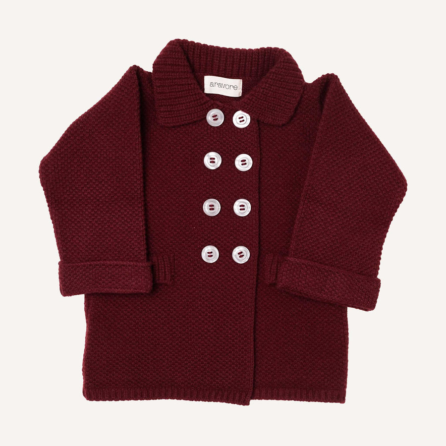 Burgundy Retro Coat