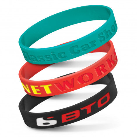 Silicone Wrist Band - Debossed