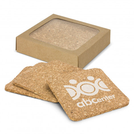 Oakridge Cork Coaster Square Set of 4