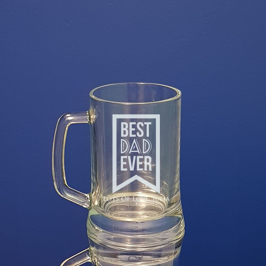 Best Dad Fathers Day Beer Mug Personalised