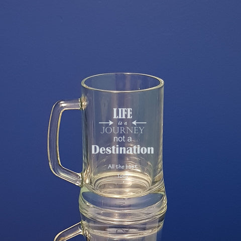 Corporate farewell beer mugs personalised