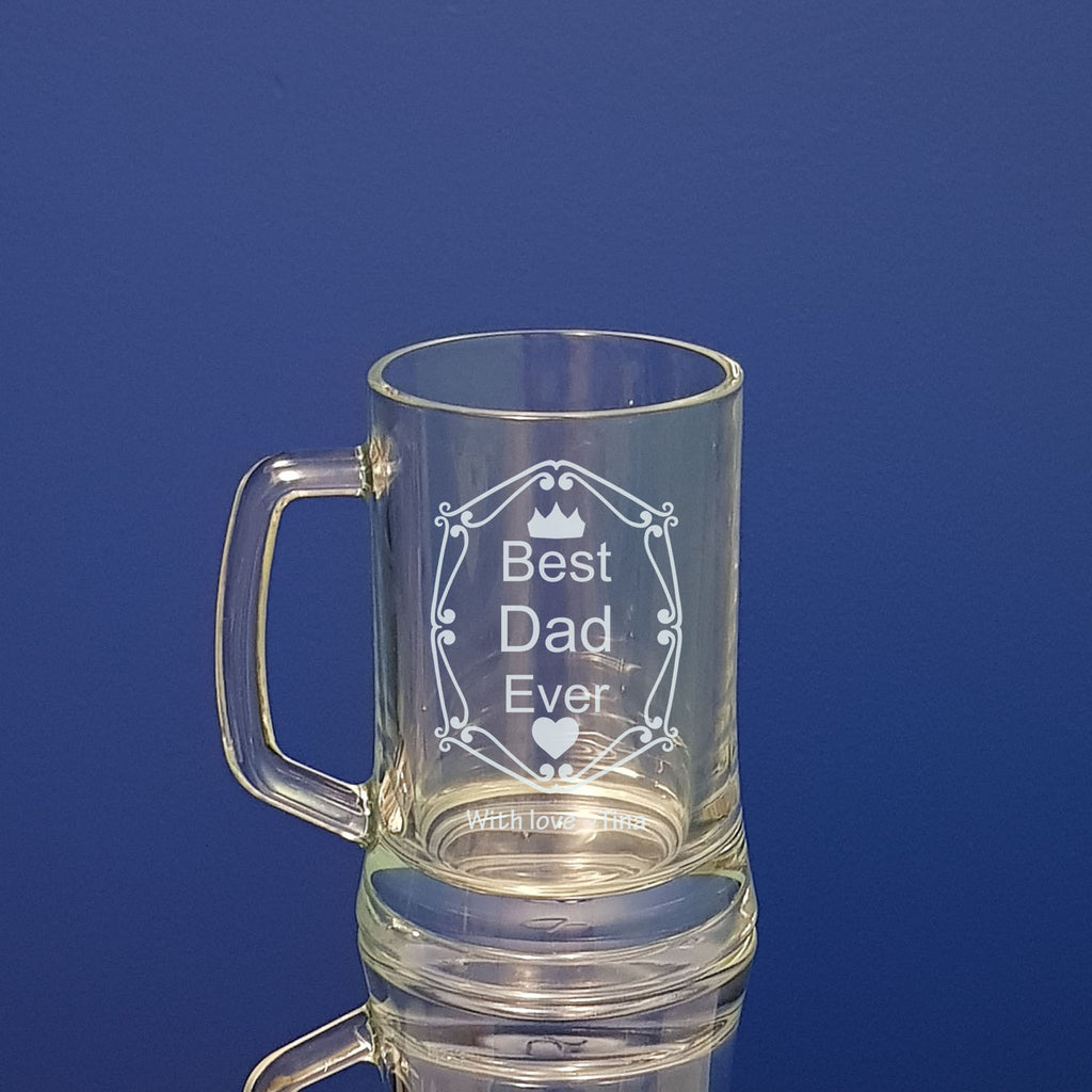 Fathers Day Beer mug Personalised