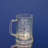 Happy Birthday Beer Mug Personalised