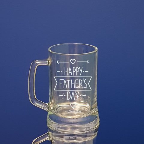 Happy Fathers Day Beer mug Personalised